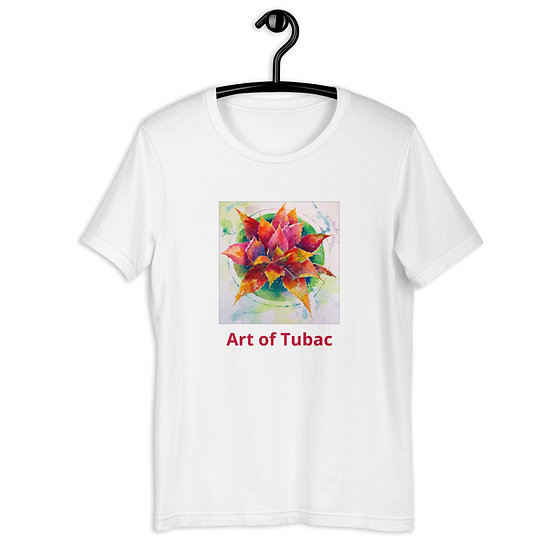 Short-Sleeve Unisex T-Shirt, Red Agave, by Roberta Rogers