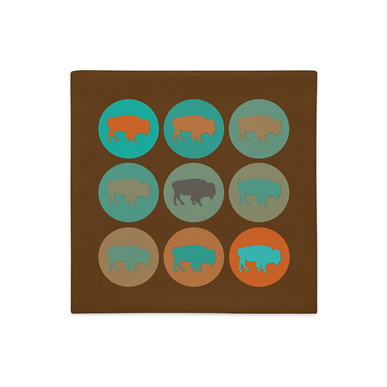 Premium Pillow Case, Buffalo Country, by Jen Prill