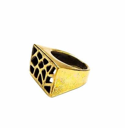 Brass Rectanglar Ring