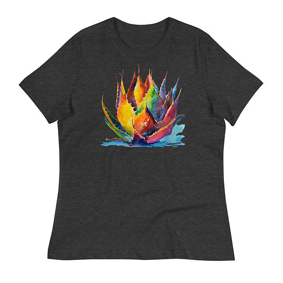 Women's Relaxed T-Shirt, Agave by Roberta Rogers