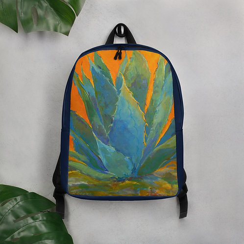 Minimalist Backpack, Blue Agave by Roberta Rogers