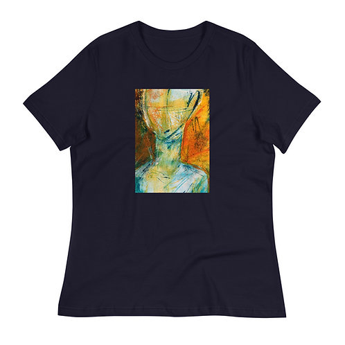 Women's Relaxed T-Shirt, Face Me, by Jen Prill