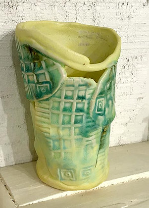 Narrow Base Green/Yellow Vase