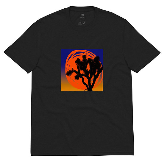 Unisex recycled t-shirt with desert sun by Jen Prill