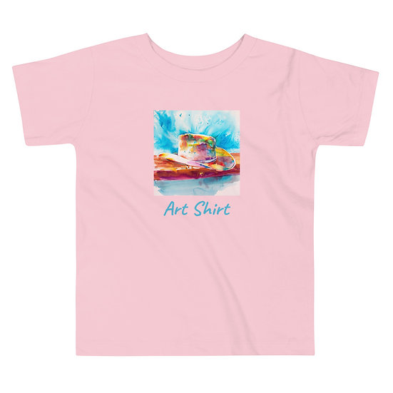 Toddler Short Sleeve Tee with Cowboy Hat by Roberta Rogers