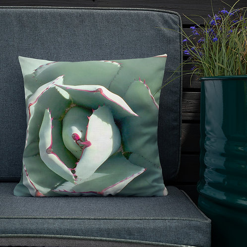 Premium Pillow, Face of Agave, by Jen Prill