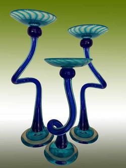 Blown Glass Candlesticks