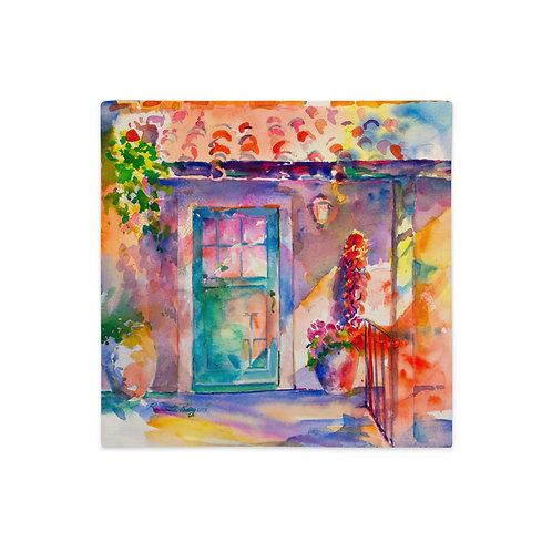 Premium Pillow Case, Southwestern Door, by Roberta Rogers