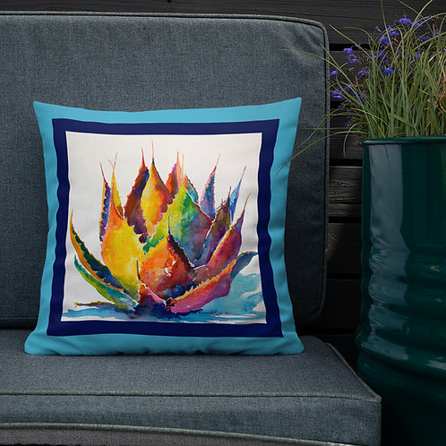 Premium Pillow, Blue Agave, by Roberta Rogers