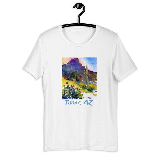 Short-Sleeve Unisex T-Shirt, Tubac Hills, by Roberta Rogers