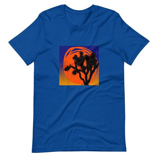Short-Sleeve women's T-Shirt with desert sun designed by Jen Prill