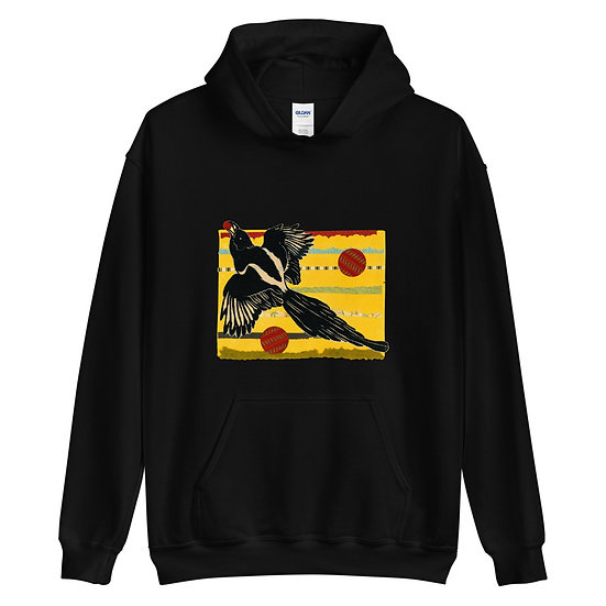 Unisex Hoodie, Raven 3 by Ouida Touchon