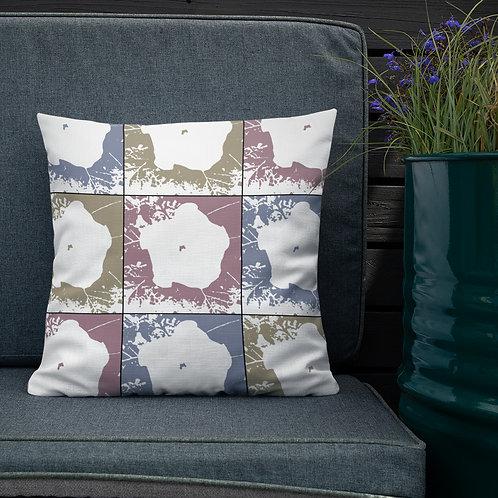 Premium Pillow, Moon Flowers, by Jen Prill