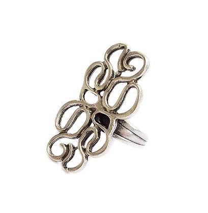 Pewter Curly Ring