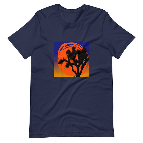 Men's Short-Sleeve T-Shirt of desert sun designed by Tubac Artist Jen Prill