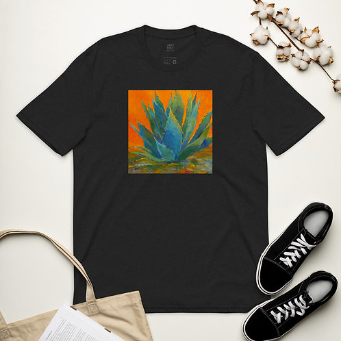 Unisex recycled t-shirt with desert cactus