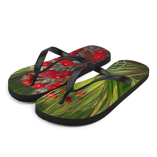 Flip-Flops, Prickly Pear by Jacci Weller