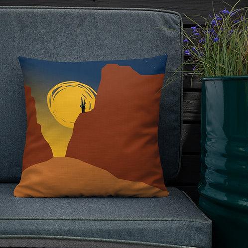 Premium Pillow, Red Cliffs by Jen Prill