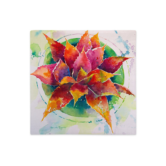 Premium Pillow Case, Rainbow Agave, by Roberta Rogers