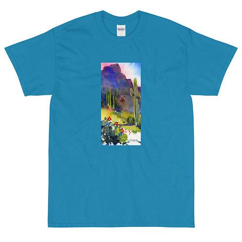 Men's Short Sleeve T-Shirt, Tubac Hills by Roberta Rogers