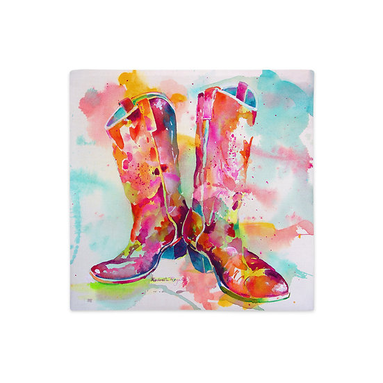 Premium Pillow Case, Cowgirl Boots, by Roberta Rogers