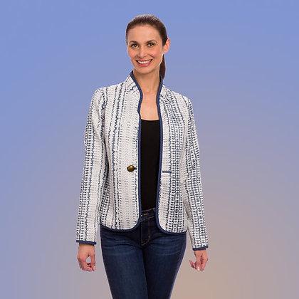 Classic Mosaic Indigo Reversible Jacket