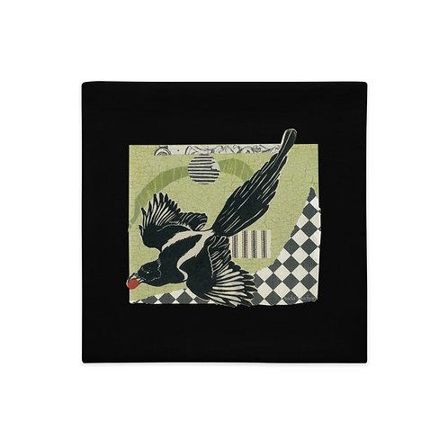 Premium Pillow Case, Raven lll by Ouida Touchon