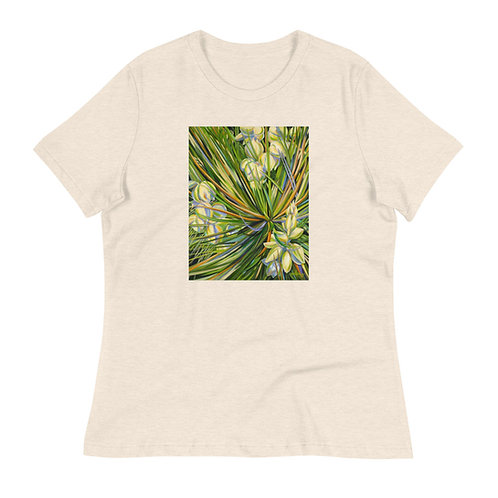 Women's Relaxed T-Shirt, Yucca 1, by Jacci Weller