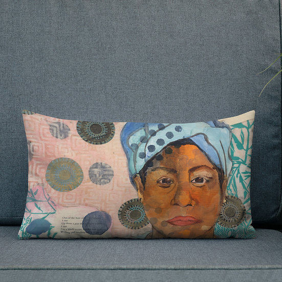 12x20 Premium Pillow, Still I Rise, by Ouida Touchon