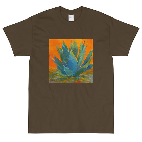Men's Short Sleeve T-Shirt, Blue Agave, by Roberta Rogers