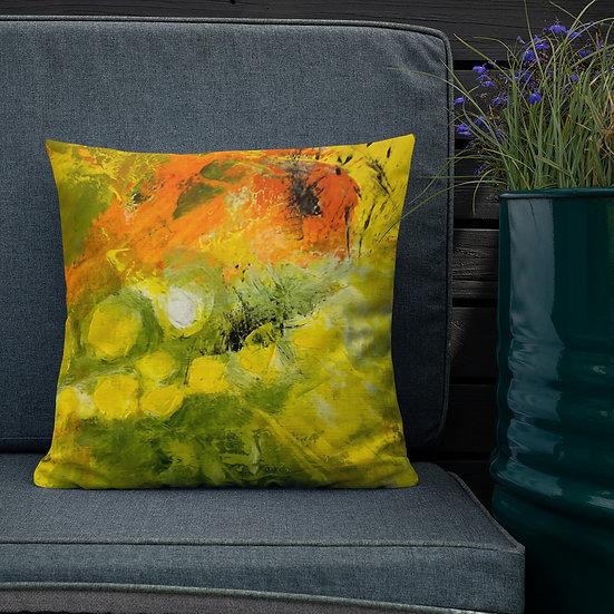 Premium Pillow, Abstaract in Orange, by Jen Prill