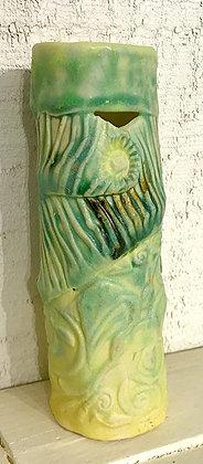 Round Green/Yellow Vase