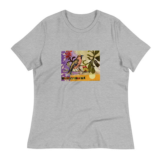 """Women's Relaxed T-Shirt """"Songbird"""" by Ouida Touchon"""