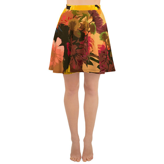 Skater Skirt with earth tone artistic floral print