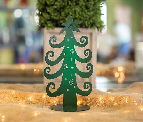 Green Tree Tabletop Decoration