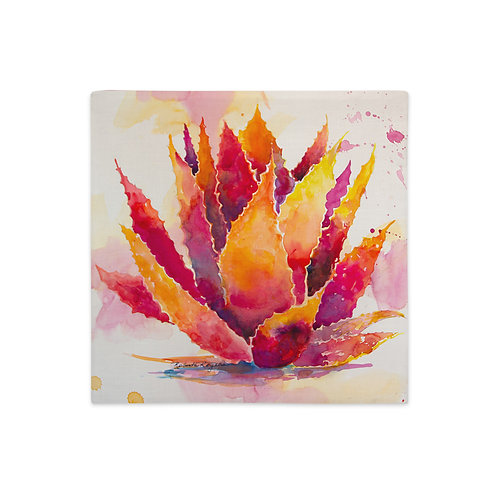 Premium Pillow Case, Red Agave, by Roberta Rogers