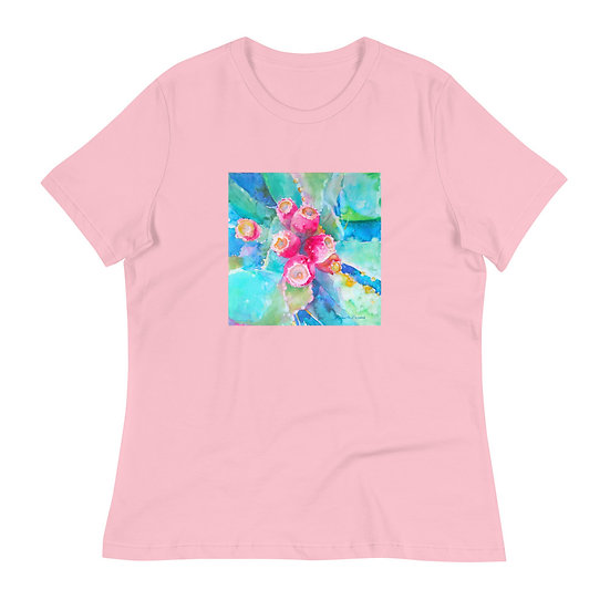Women's Relaxed T-Shirt, Prickly, by Roberta Rogers