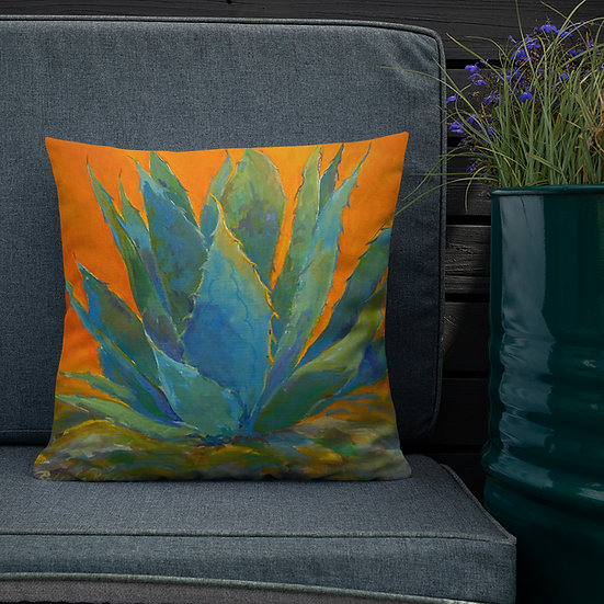 Premium Pillow, Bold Agave by Roberta Rogers