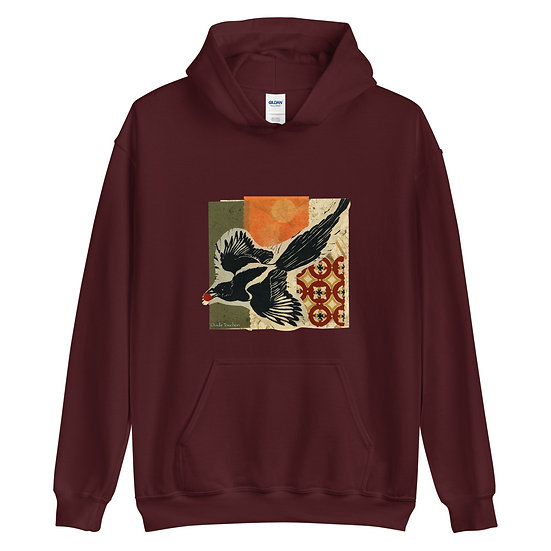 Unisex Hoodie, Raven 1 by Ouida Touchon