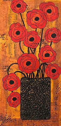 11 Red Poppies