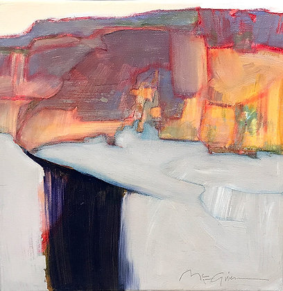 Peggy Mcgivern abstract paintings with a hint of truth in Tubac