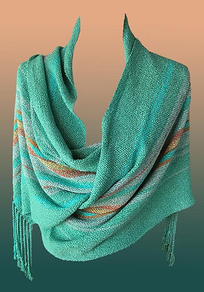 Hand Woven Shawl-turquoise