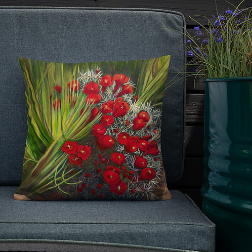 Premium Pillow, Prickly Pear, by Jacci Weller