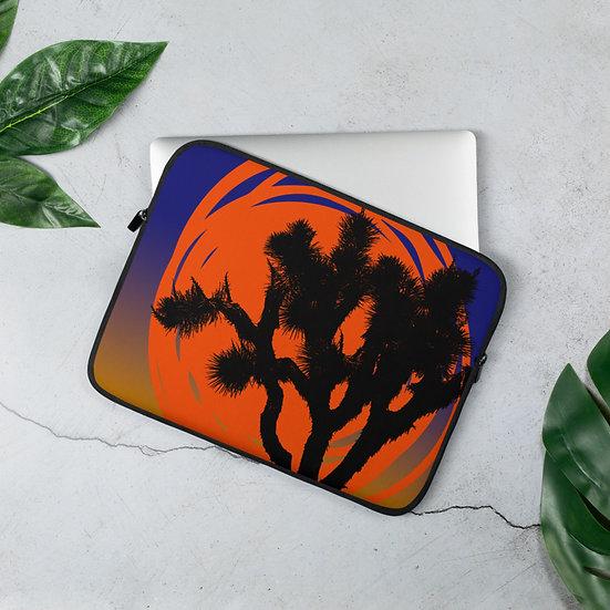 Laptop Sleeve with desert sun by Jen Prill