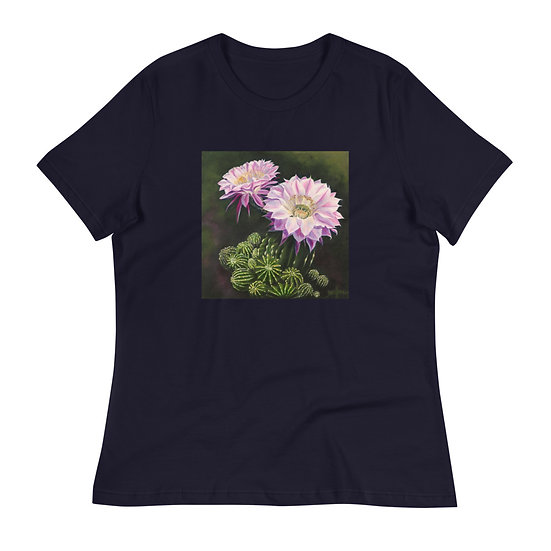 Women's Relaxed T-Shirt, Jack's Cactus, by Jacci Weller