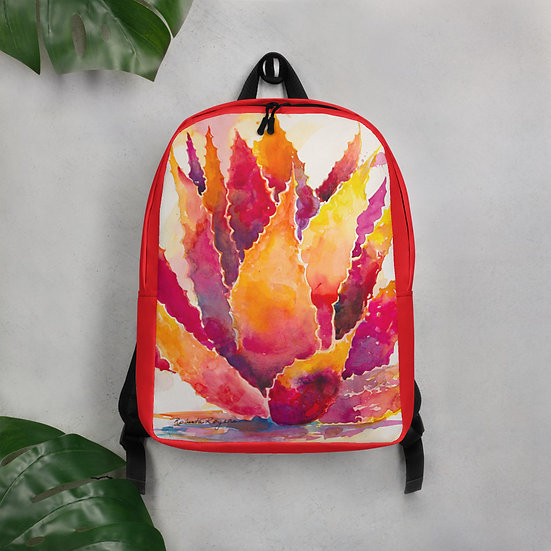 Red Agave Backpack by Roberta Rogers
