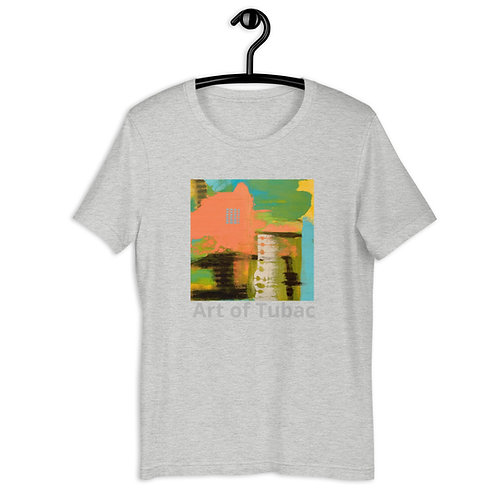 Short-Sleeve Unisex T-Shirt, Orange Castle by Jen Prill