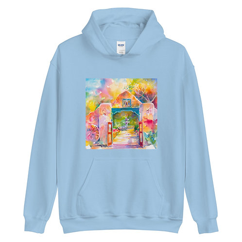 Unisex Hoodie, Mexican Gate by Roberta Rogers