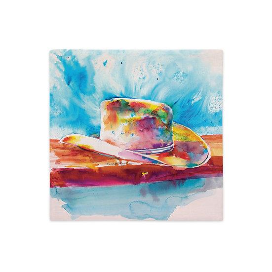 Premium Pillow Case, Cowboy Hat, by Roberta Rogers