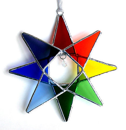 Rainbow Crystal Star